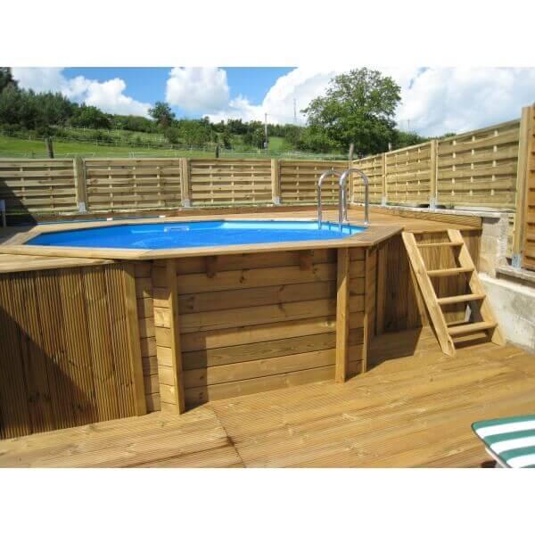piscine bois ubbink oc a 430 cm x cm mypiscine. Black Bedroom Furniture Sets. Home Design Ideas