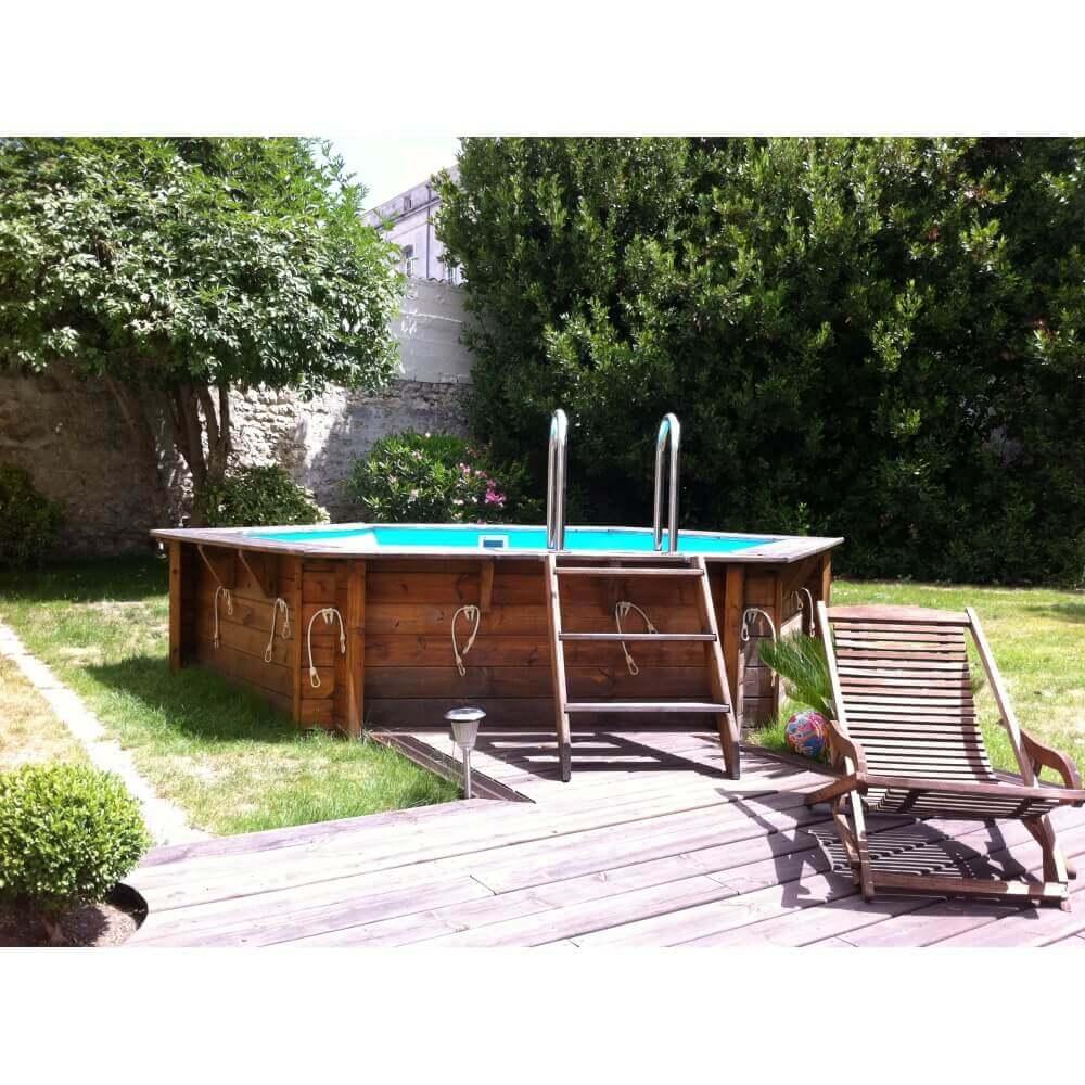 piscine bois ubbink azura diam 410 cm x cm mypiscine. Black Bedroom Furniture Sets. Home Design Ideas