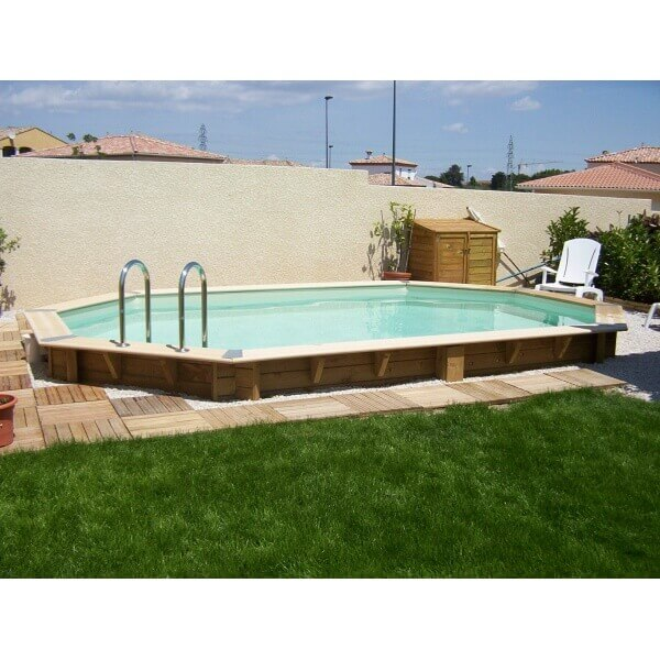 Piscine bois ubbink oc a 400 x 610 x cm mypiscine for Protege piscine