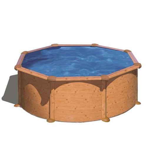 Piscine hors sol gre sicilia ronde 300 h 120 mypiscine for Cartouche filtre piscine hors sol
