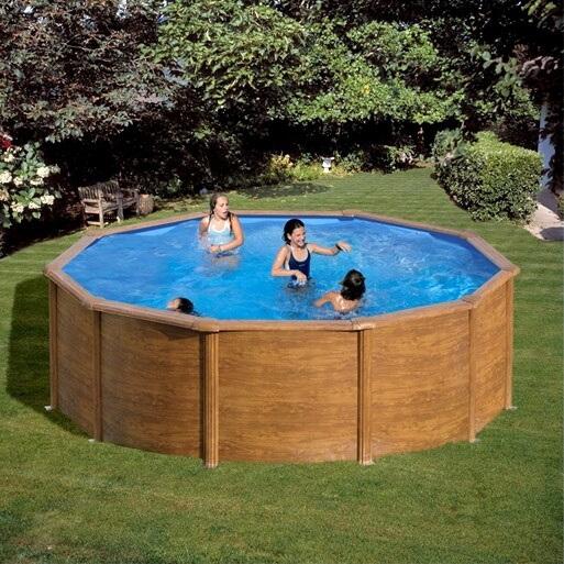 Piscine hors sol gre sicilia ronde 350 h120 mypiscine for Cartouche filtre piscine hors sol
