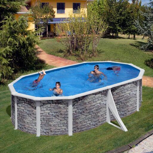 Piscine hors sol gre cerdena 500 x 300 h120 cm kit500po for Branchement filtre a sable piscine hors sol