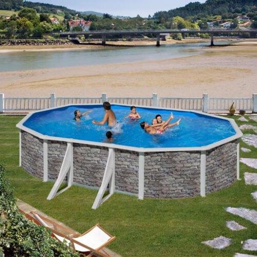 piscine hors sol gre cerdena 610 x 375 h120 cm kit610po mypiscine. Black Bedroom Furniture Sets. Home Design Ideas