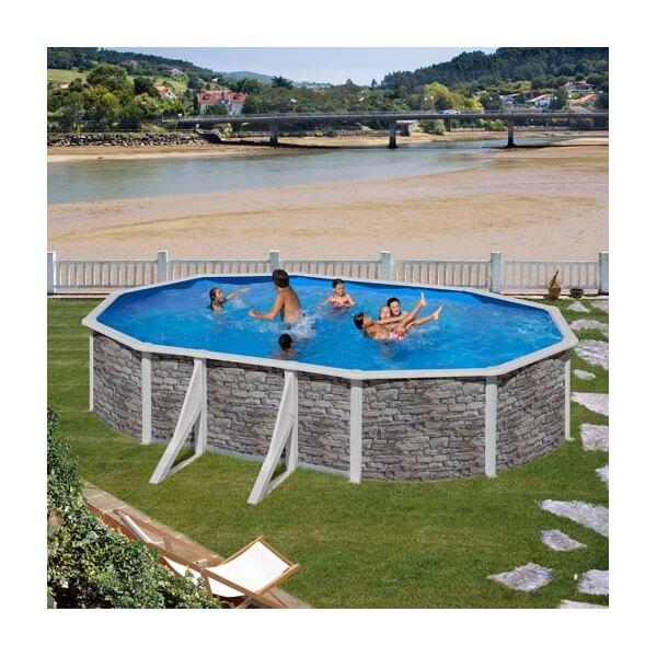 piscine hors sol gre cerdena 610 x 375 h120 cm kit610po. Black Bedroom Furniture Sets. Home Design Ideas