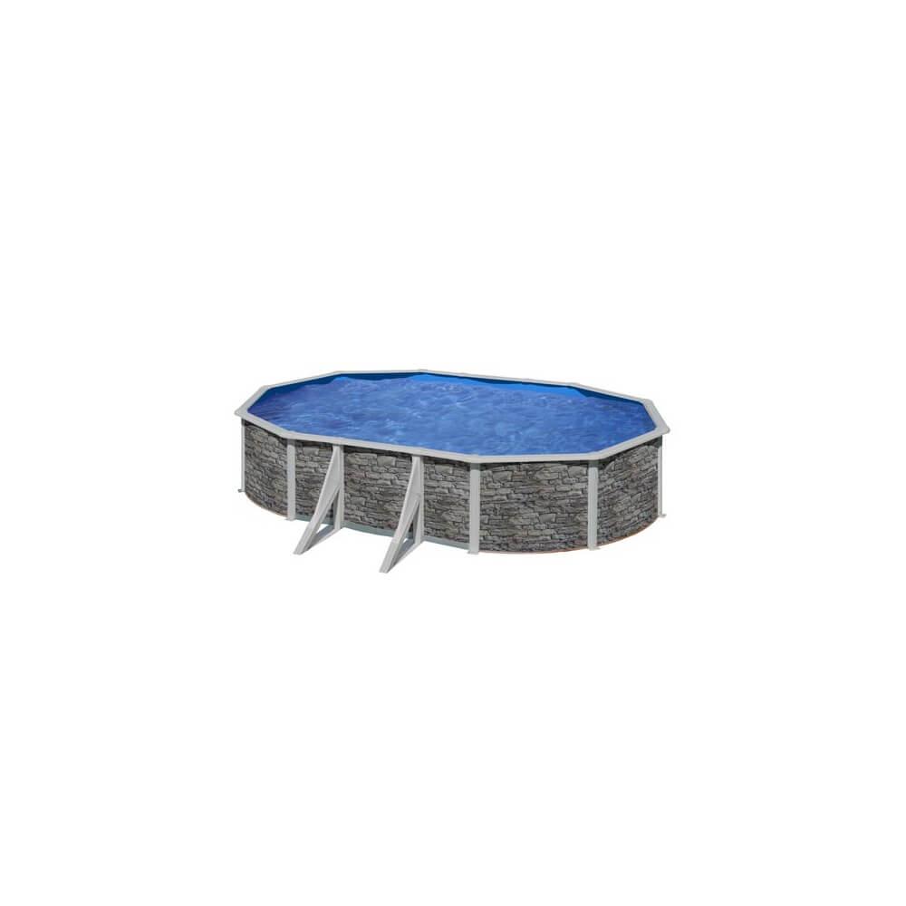 Piscine hors sol gre cerdena 610 x 375 h120 cm kit610po for Piscine hors sol acier liner 75 100