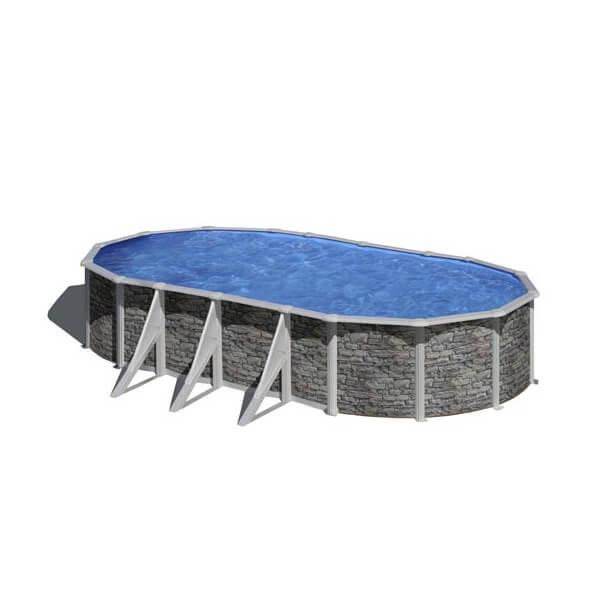 Piscine hors sol gre cerdena 730 x 375 h120 cm kit730po for Piscine hors sol acier liner 75 100