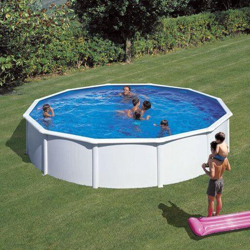 Piscine hors sol gre fidji 550 h120 cm kit350eco mypiscine for Filtre piscine hors sol