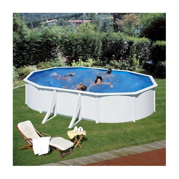 Piscine hors sol gre fidji 610 x 375 h120 cm kit610eco for Piscine hors sol filtre a sable