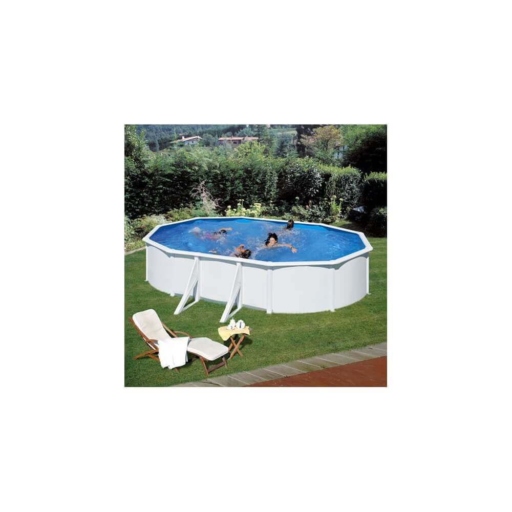 Piscine hors sol gre fidji 610 x 375 h120 cm kit610eco for Piscine interieur hors sol
