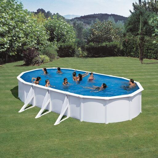 Piscine hors sol gre fidji 730 x 375 h120 cm kit730eco for Piscine hors sol filtre a sable