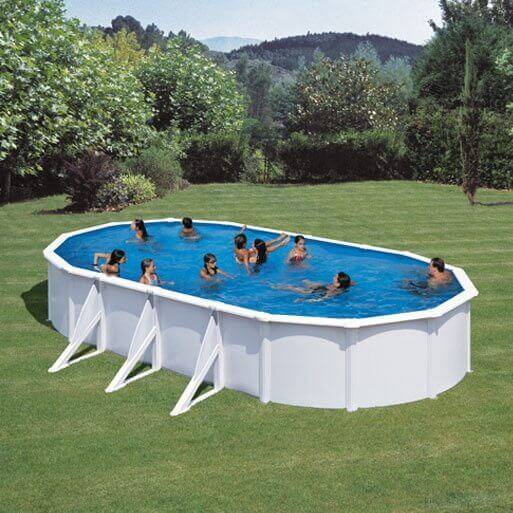 Piscine hors sol gre fidji 810 x 470 x h120 cm kit810eco for Piscine hors sol 360 x 120