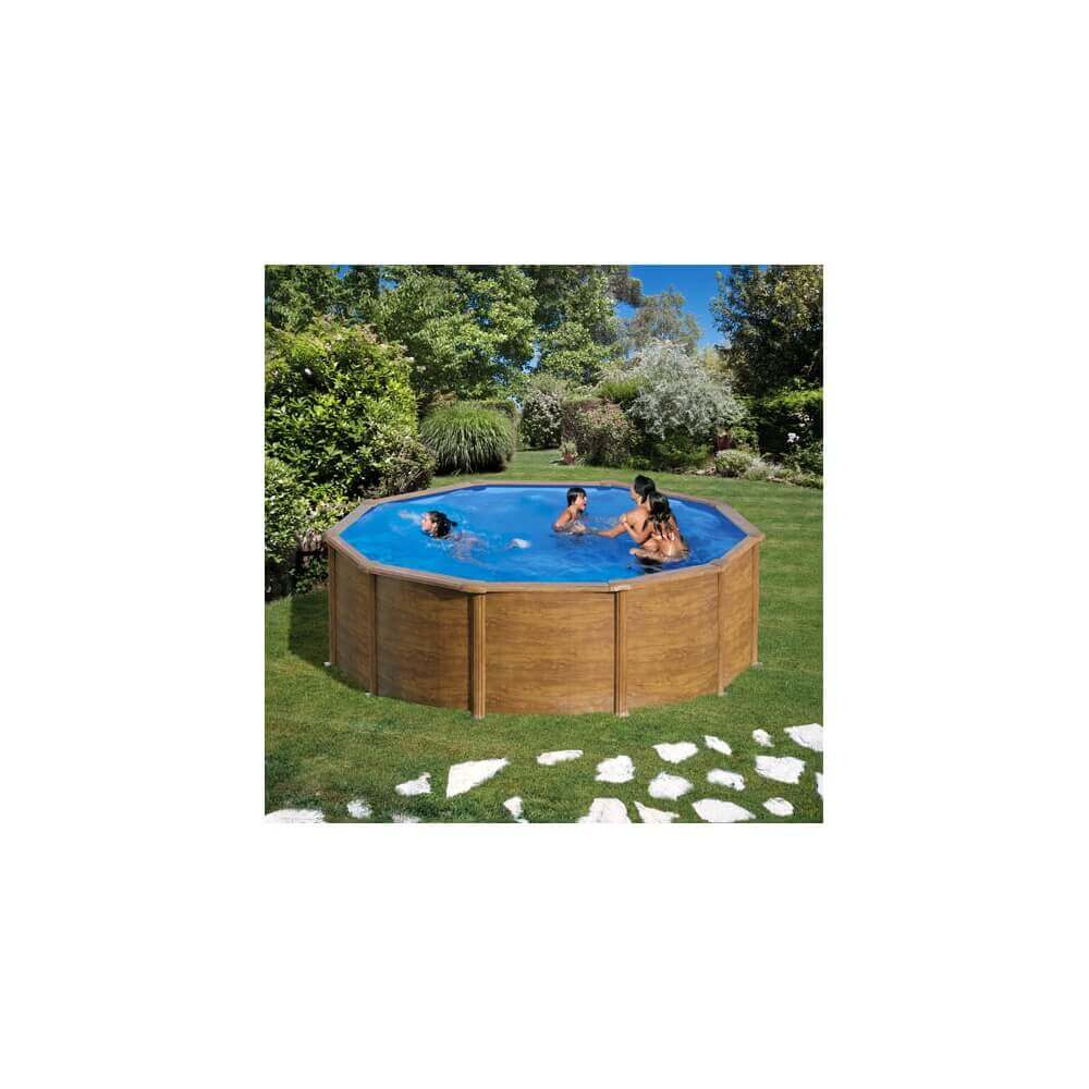 Piscine hors sol gre pacific 460 460 h120 cm kit460w mypiscine - Filtre a sable piscine hors sol ...