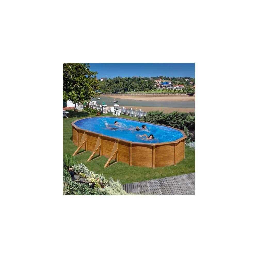 Piscine hors sol pacific 730 x 375 h120 cm kit730w mypiscine - Filtration sable piscine hors sol ...