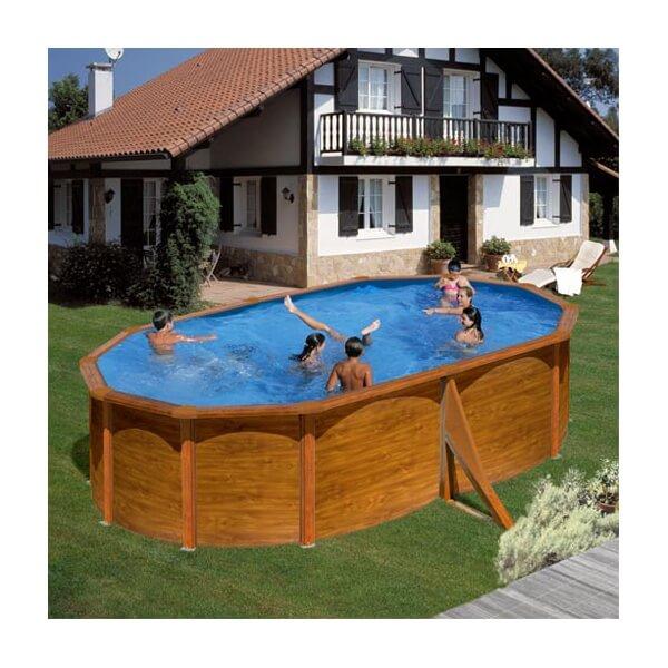 Piscine hors sol gre bora bora ovale 500 x 350 h 120 for Cartouche filtre piscine hors sol