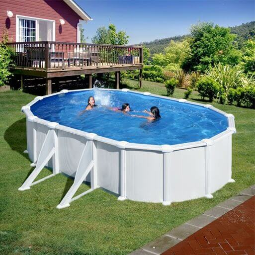 Piscine hors sol anthracite fabulous incroyable liner for Filtre sable piscine hors sol castorama