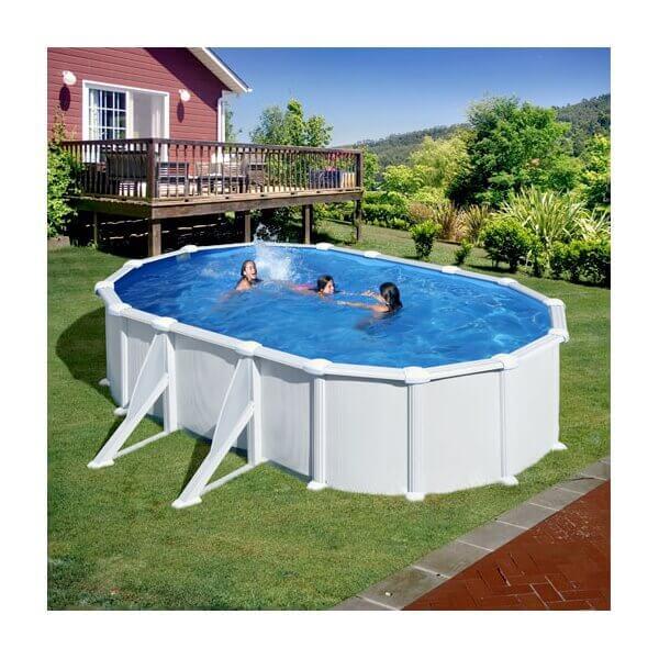 Piscine hors sol gre atlantis ovale 610 x 375 h132 mypiscine for Branchement filtre a sable piscine hors sol