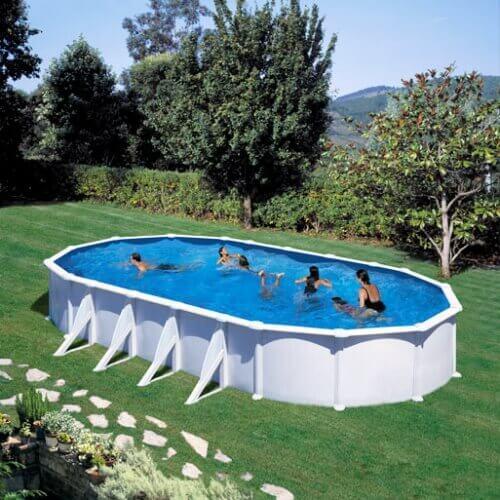 Piscine hors sol gre atlantis ovale 915 x 470 h132 mypiscine - Filtre sable piscine hors sol ...