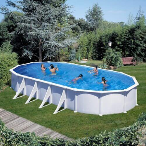 Piscine hors sol gre atlantis ovale 1000 x 550 h132 for 1000 piscine
