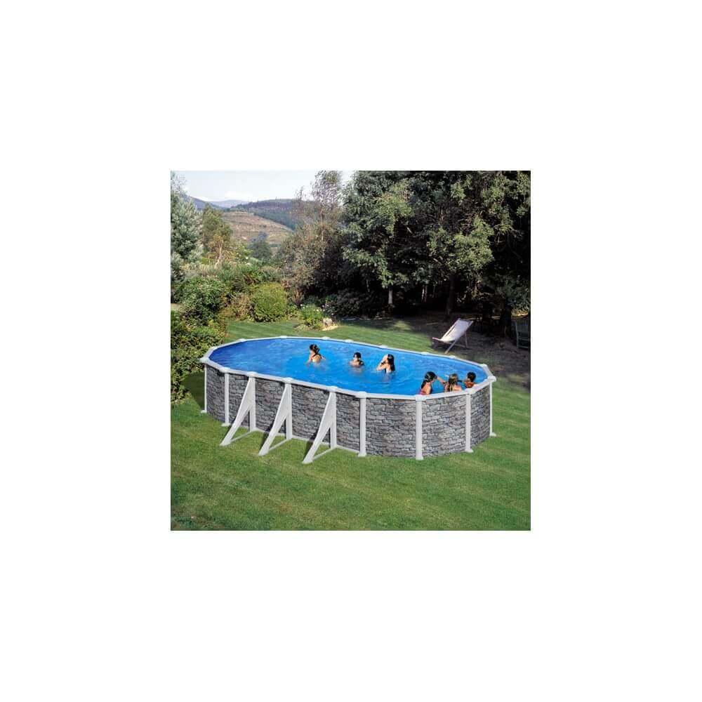 Piscine hors sol gr skyathos ovale 730 x 375 x h132 - Filtre sable piscine hors sol ...