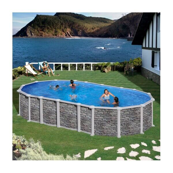 piscine hors sol gr santorini 730 x 375 h132cm kitprov7388po. Black Bedroom Furniture Sets. Home Design Ideas