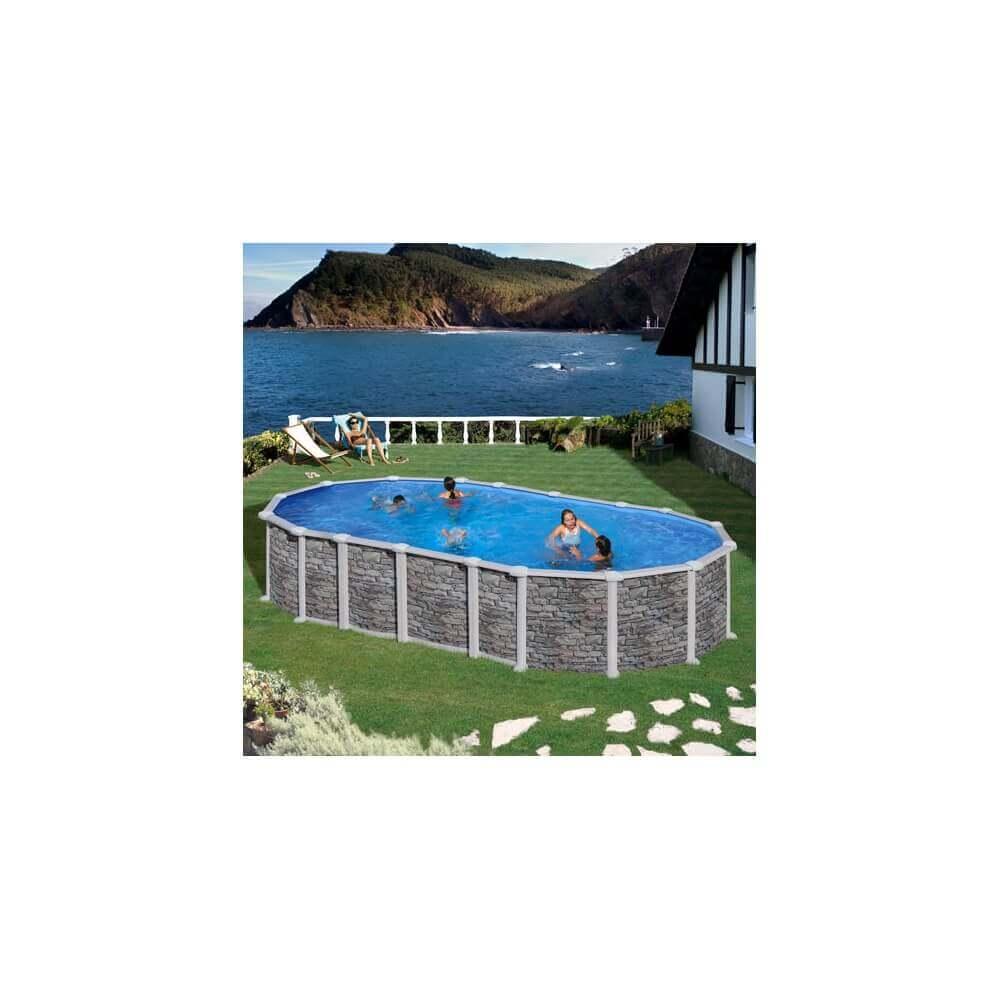 Piscine hors sol gr santorini 730 x 375 h132cm kitprov7388po - Filtre a sable piscine hors sol ...