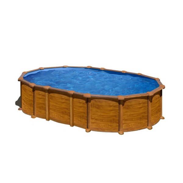 Piscine amazonia ovale 610 x 375 h 132 au meilleur prix for Piscine hors sol filtre a sable