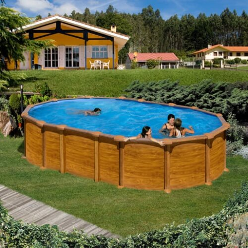 piscine amazonia ovale 610 x 375 h 132 au meilleur prix. Black Bedroom Furniture Sets. Home Design Ideas