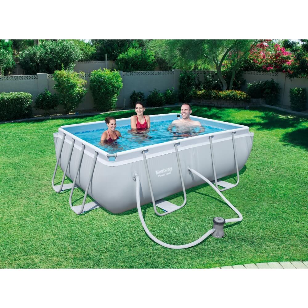 Piscine tubulaire power steel pro frame pool 282 x 196 h 84 cm for Accessoire piscine 84