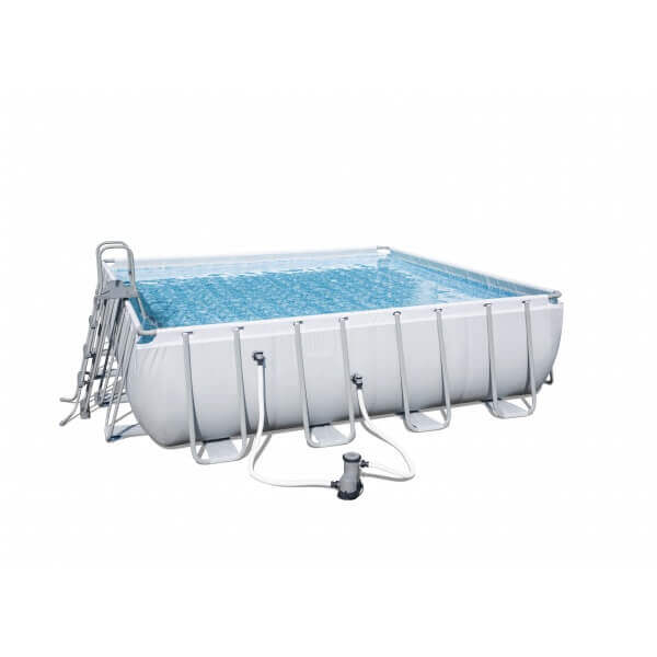 Piscine tubulaire power steel frame 956 x 488 h132 cm for Piscine tubulaire carrefour