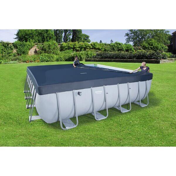 piscine tubulaire carr e bestway 488 x 488 x h122 cm mypiscine. Black Bedroom Furniture Sets. Home Design Ideas
