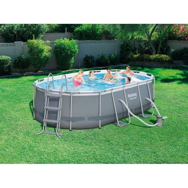 piscine tubulaire power steel frame pool 424 x 250 h 100 cm. Black Bedroom Furniture Sets. Home Design Ideas