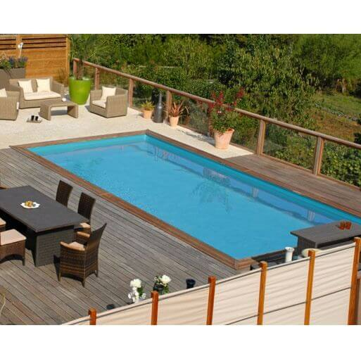 piscine hors sol sunbay en bois 600 x 400 cm mypiscine. Black Bedroom Furniture Sets. Home Design Ideas