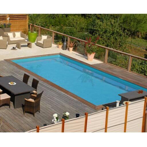 Piscine hors sol sunbay en bois 600 x 400 cm mypiscine for Piscine bois hors sol auchan
