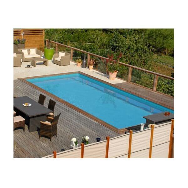 Piscine hors sol sunbay en bois 600 x 400 cm mypiscine for Piscine autoportee bois rectangulaire