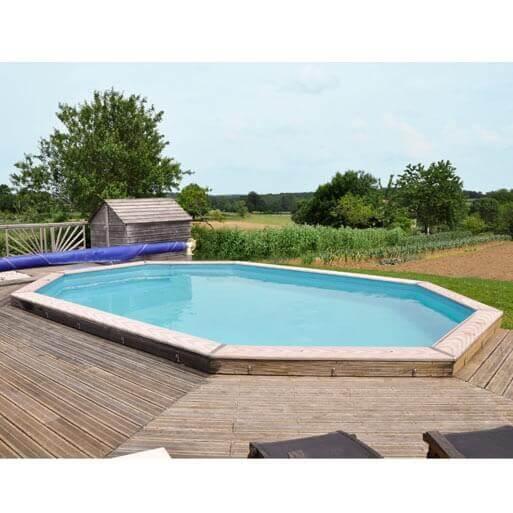 Piscine hors sol sunbay en bois 9 42x5 92m mypiscine for Aspirateur piscine hors sol sunbay