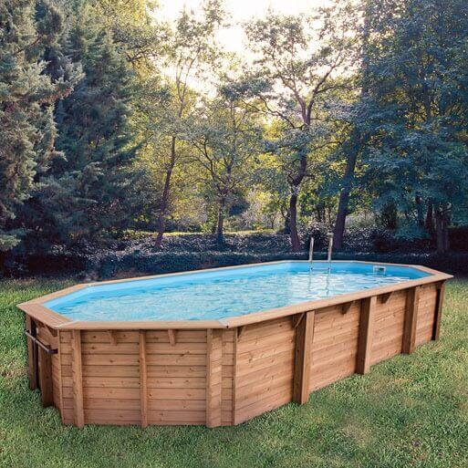 piscine bois ubbink oc a 470 x 860 x cm mypiscine On piscine hors sol wood grain