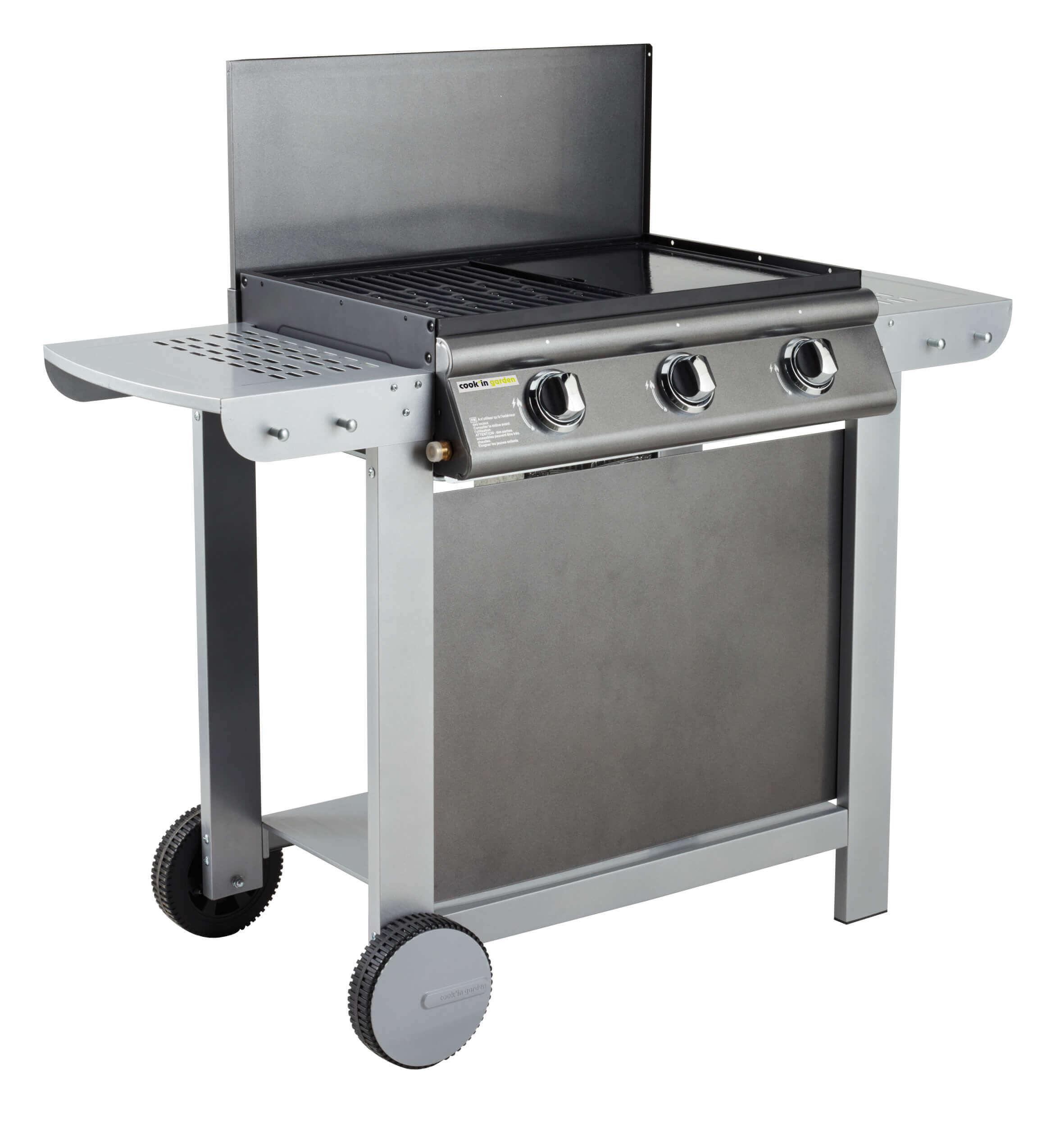 Barbecue Gaz Et Plancha barbecue-plancha gaz puerta luna - 3 brûleurs