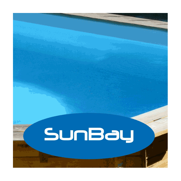 Liner pour piscine sunbay cannelle 551 x 351 x cm for Liner piscine transparent