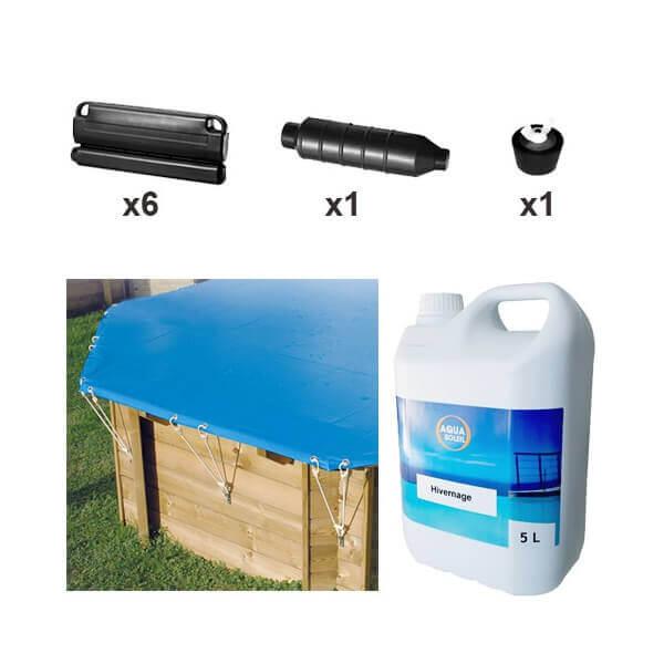 Pack hivernage complet piscine hors sol azura 410 mypiscine for Produits hivernage piscine hors sol