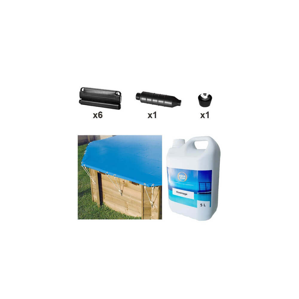 Pack hivernage complet piscine hors sol azura 410 mypiscine for Produit d hivernage pour piscine