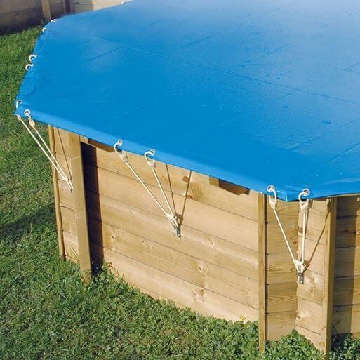 B che hiver de s curit pour piscine ubbink 580 cm for Bache securite piscine