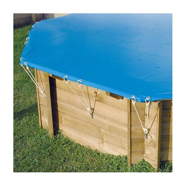 B che hiver de s curit pour piscine ubbink 300x490 cm for Bache hivernage piscine hors sol intex