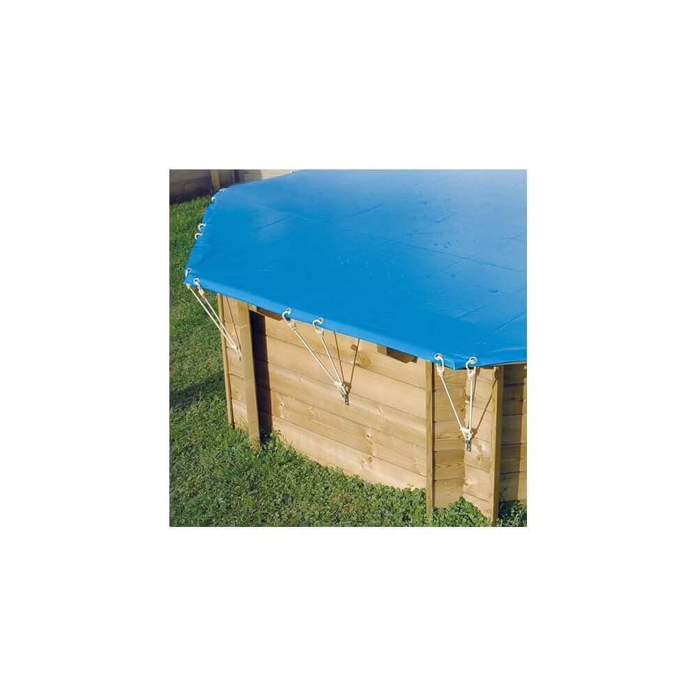 B che hiver de s curit pour piscine ubbink 500x800 cm mypiscine - Bache d hivernage ...