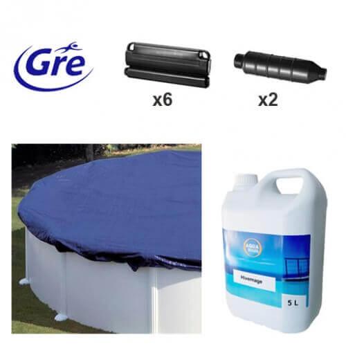 Pack hivernage pour piscine hors sol gre 4 50m ph451 for Piscine gre accessoire
