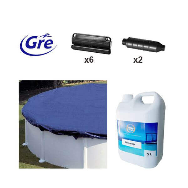 Pack hivernage pour piscine hors sol gre 4 50m ph451 for Traitement hivernage piscine hors sol