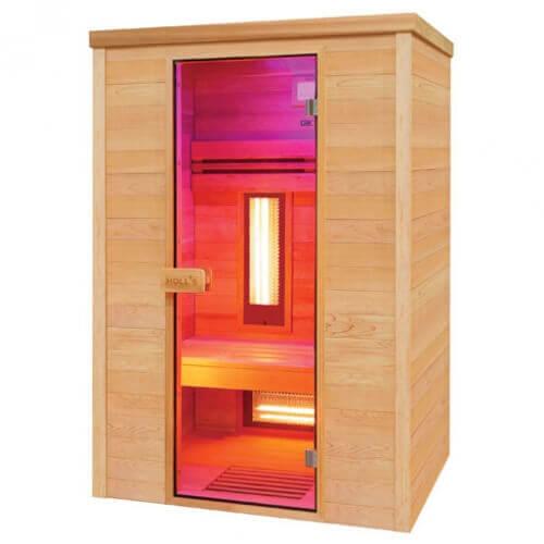 sauna infrarouge multiwave 2 places holl 39 s mypiscine. Black Bedroom Furniture Sets. Home Design Ideas