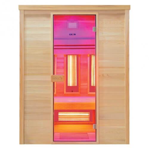sauna infrarouge multiwave 3 places holl 39 s mypiscine. Black Bedroom Furniture Sets. Home Design Ideas