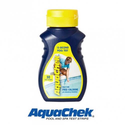 50 Bandelettes d'analyse piscine Aquachek Chlore/pH