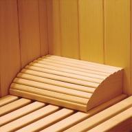 Appui-tête en bois pour sauna