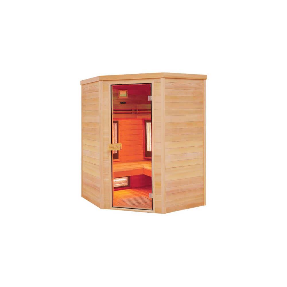sauna infrarouge multiwave 3 4 places holl 39 s mypiscine. Black Bedroom Furniture Sets. Home Design Ideas